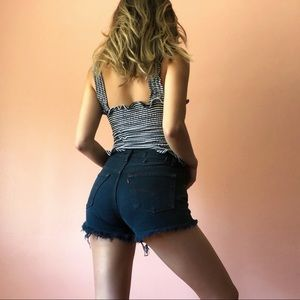 Vintage Levi's Inky Denim Cutoffs